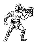 Гладиаторы защищали руки, наматывая на них длинные ремни из недубленой кожи.