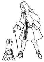 Мужские перчатки второй половины XVII века.