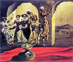 """С. Дали. """"Исчезающий бюст Вольтера"""". 1940 год. Музей Дали, С.-Петербург, США."""